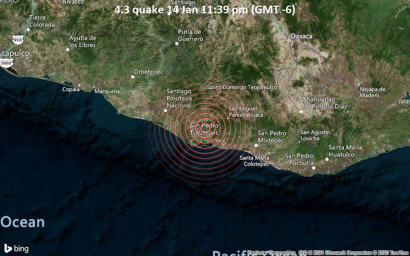 4.3 quake 14 Jan 11:39 pm (GMT -6)