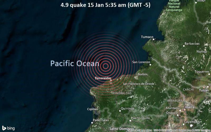 4.9 quake 15 Jan 5:35 am (GMT -5)