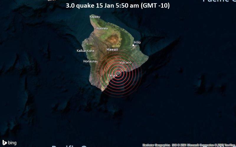 3.0 quake 15 Jan 5:50 am (GMT -10)