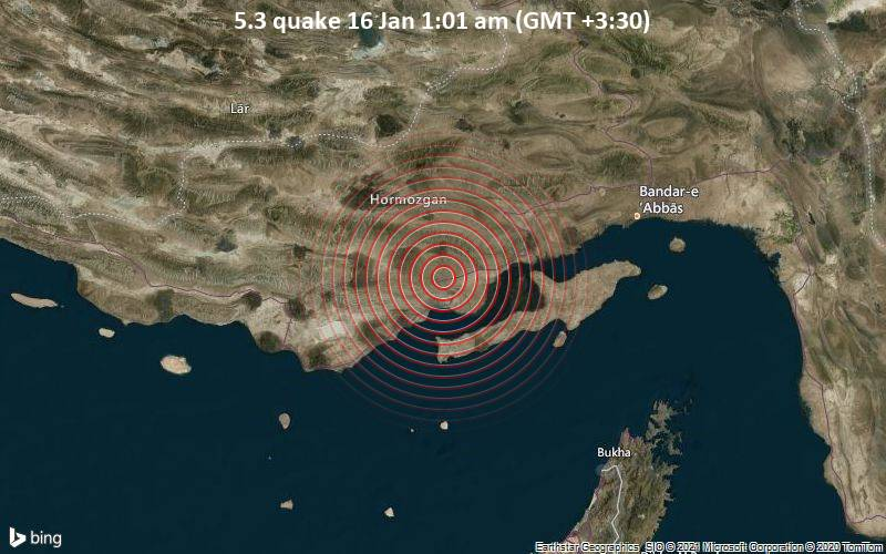 5.3 quake 16 Jan 1:01 am (GMT +3:30)