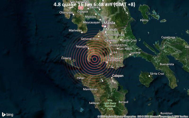 4.8 quake 16 Jan 6:48 am (GMT +8)