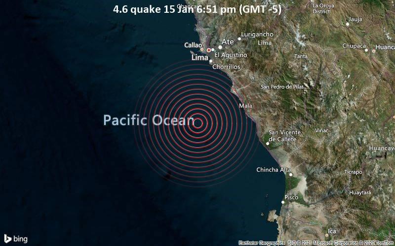 4.6 quake 15 Jan 6:51 pm (GMT -5)