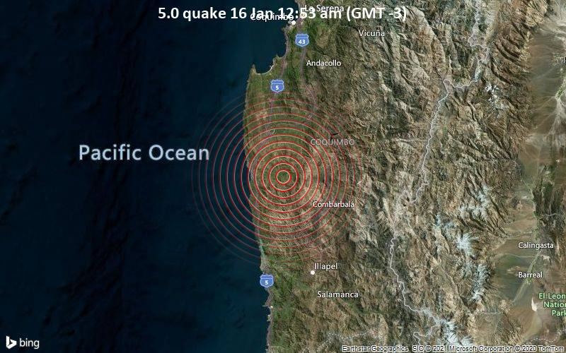 5.0 quake 16 Jan 12:53 am (GMT -3)