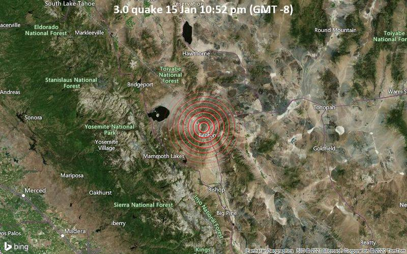 3.0 quake 15 Jan 10:52 pm (GMT -8)