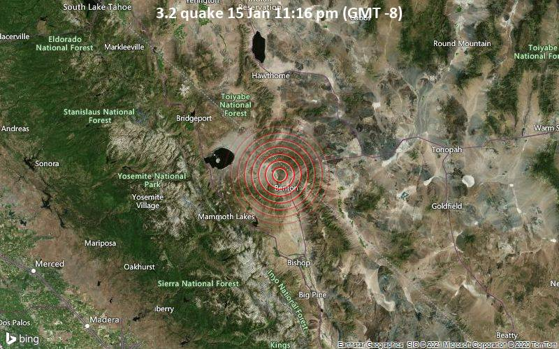 3.2 quake 15 Jan 11:16 pm (GMT -8)