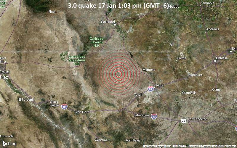 3.0 quake 17 Jan 1:03 pm (GMT -6)