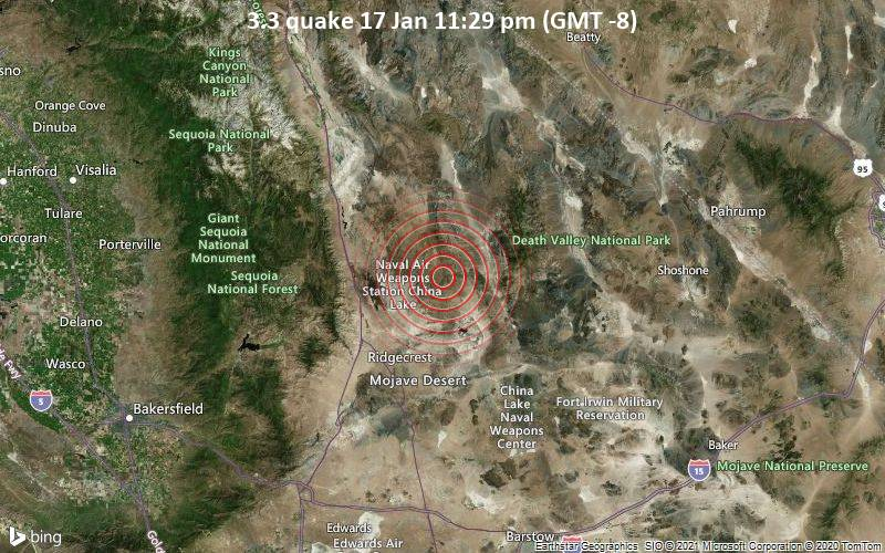 3.3 quake 17 Jan 11:29 pm (GMT -8)