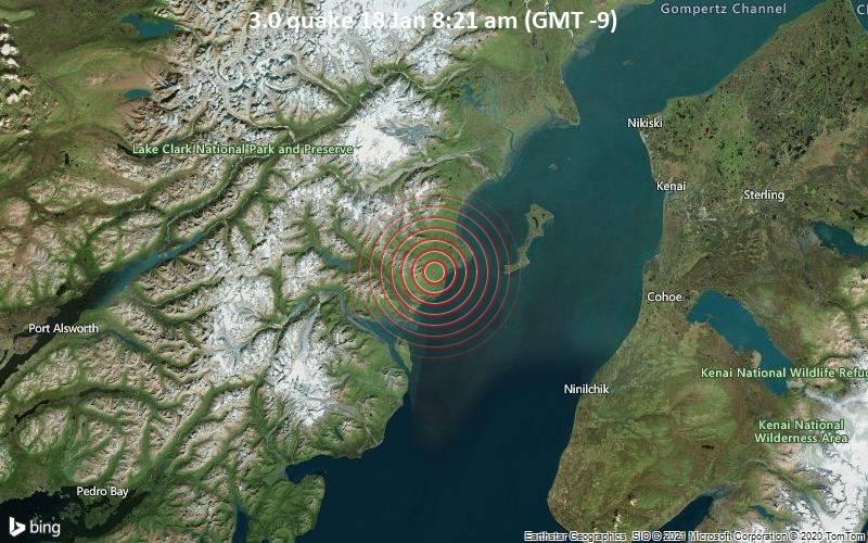 3.0 quake 18 Jan 8:21 am (GMT -9)