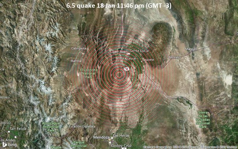 6.5 quake 18 Jan 11:46 pm (GMT -3)