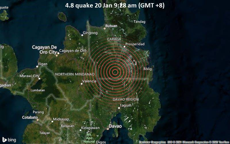4.8 quake 20 Jan 9:28 am (GMT +8)