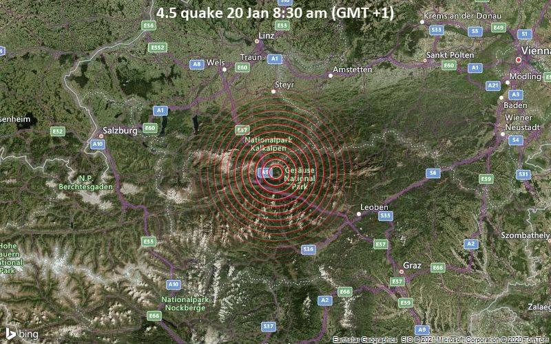 4.5 quake 20 Jan 8:30 am (GMT +1)