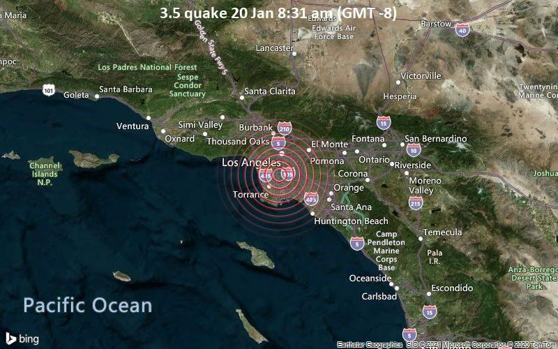 3.5 quake 20 Jan 8:31 am (GMT -8)