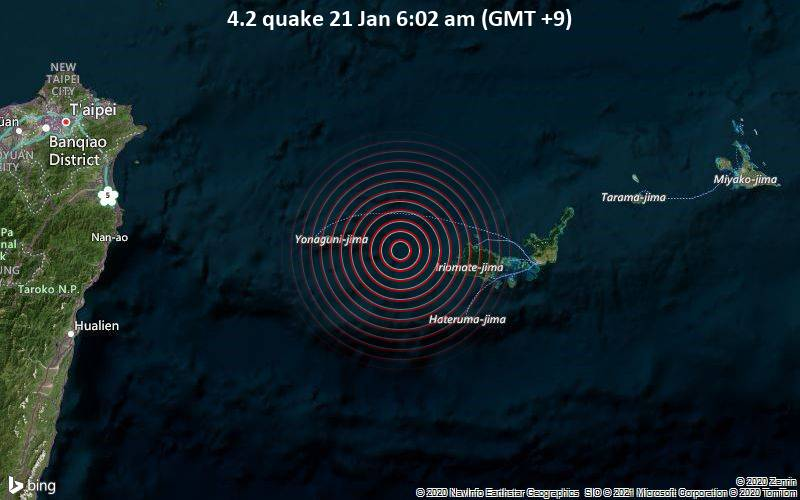 4.2 quake 21 Jan 6:02 am (GMT +9)