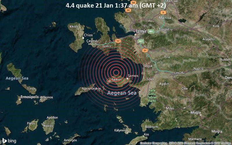 4.4 quake 21 Jan 1:37 am (GMT +2)