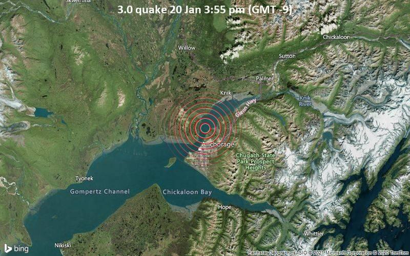 3.0 quake 20 Jan 3:55 pm (GMT -9)
