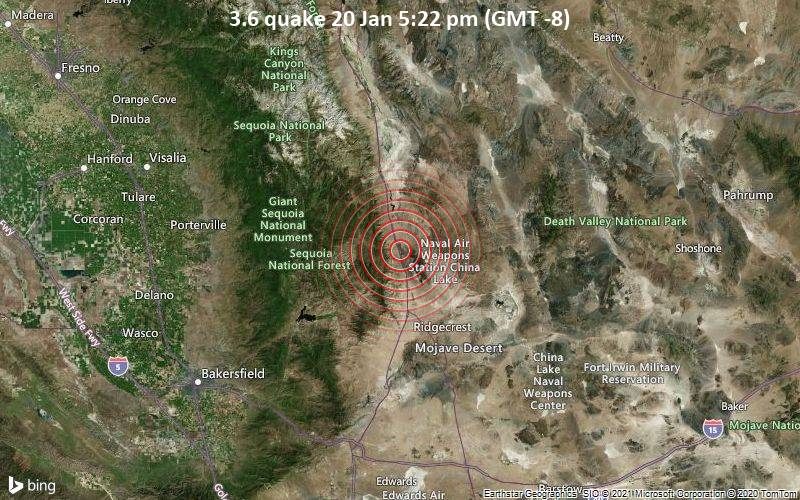 3.6 quake 20 Jan 5:22 pm (GMT -8)