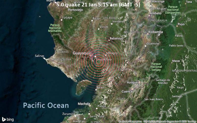 5.0 quake 21 Jan 5:15 am (GMT -5)
