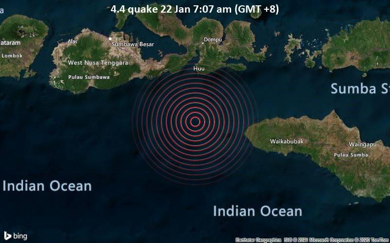 4.4 quake 22 Jan 7:07 am (GMT +8)