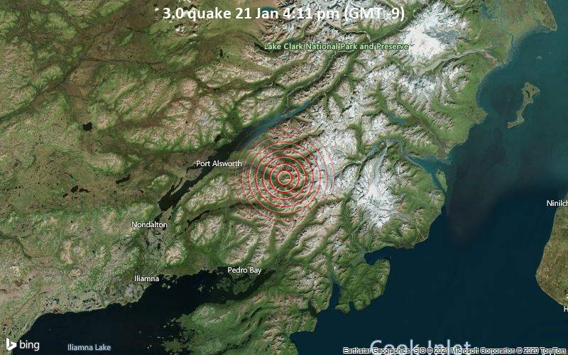 3.0 quake 21 Jan 4:11 pm (GMT -9)