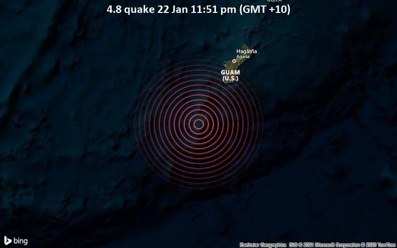 4.8 quake 22 Jan 11:51 pm (GMT +10)