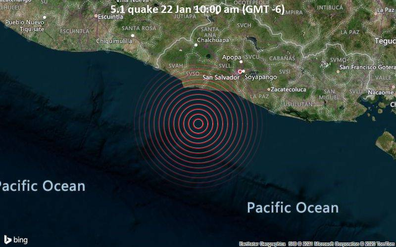 5.1 quake 22 Jan 10:00 am (GMT -6)