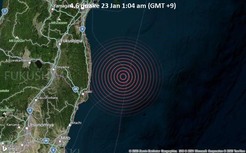 4.6 quake 23 Jan 1:04 am (GMT +9)