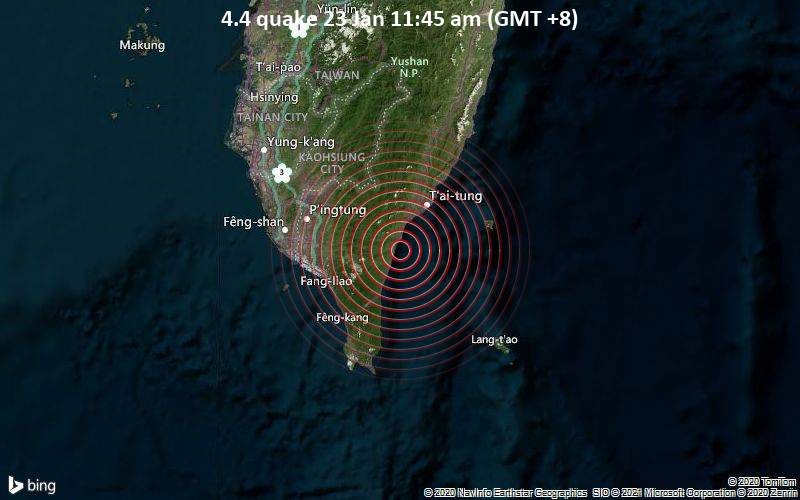4.4 quake 23 Jan 11:45 am (GMT +8)