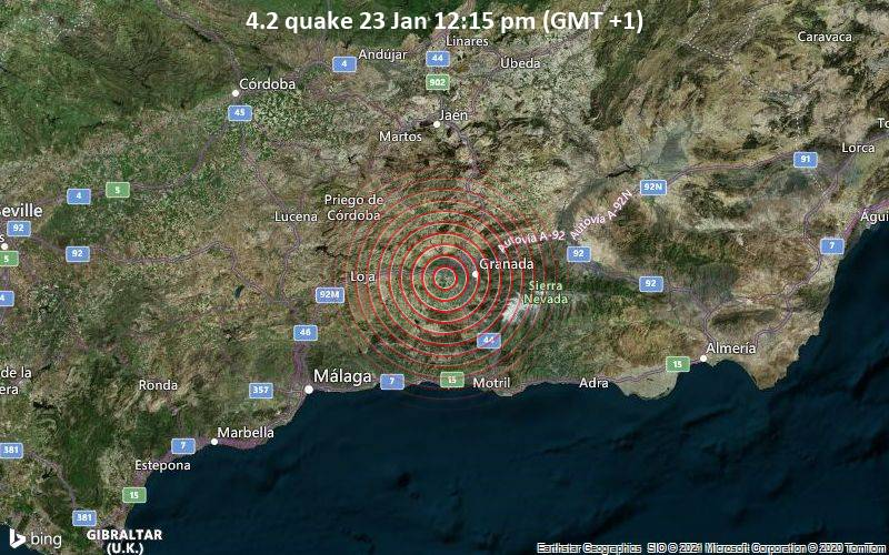 4.2 quake 23 Jan 12:15 pm (GMT +1)