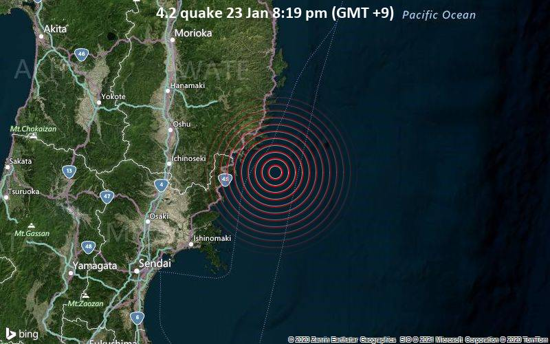 4.2 quake 23 Jan 8:19 pm (GMT +9)