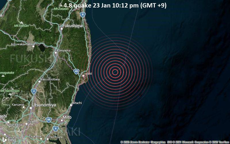 4.8 quake 23 Jan 10:12 pm (GMT +9)