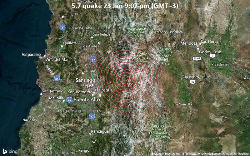 5.7 quake 23 Jan 9:07 pm (GMT -3)