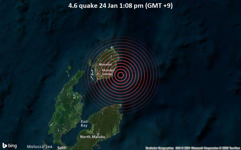 4.6 quake 24 Jan 1:08 pm (GMT +9)