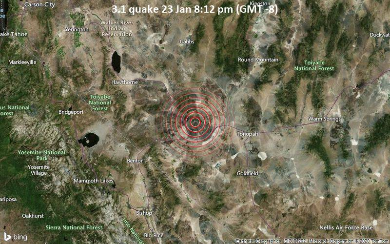 3.1 quake 23 Jan 8:12 pm (GMT -8)