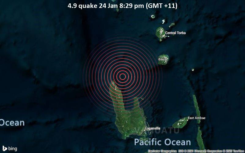 4.9 quake 24 Jan 8:29 pm (GMT +11)