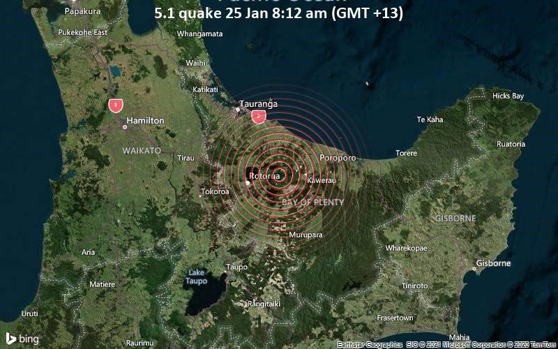 5.1 quake 25 Jan 8:12 am (GMT +13)