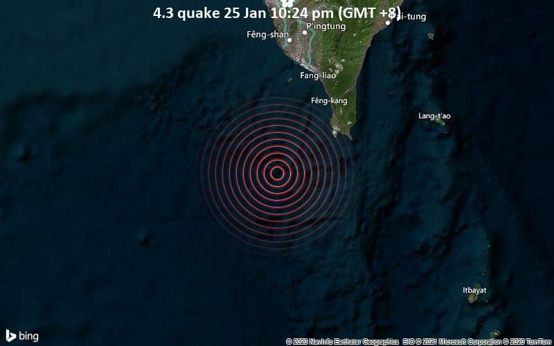 4.3 quake 25 Jan 10:24 pm (GMT +8)