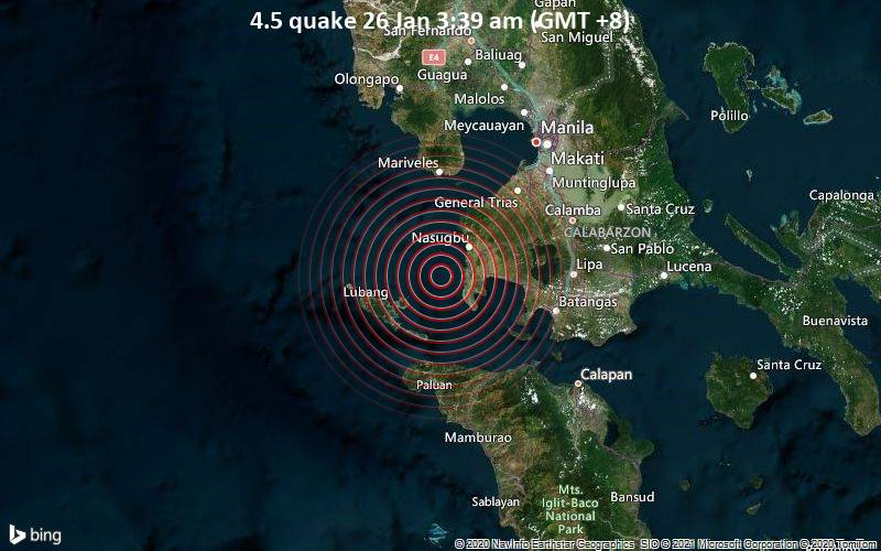 4.5 quake 26 Jan 3:39 am (GMT +8)