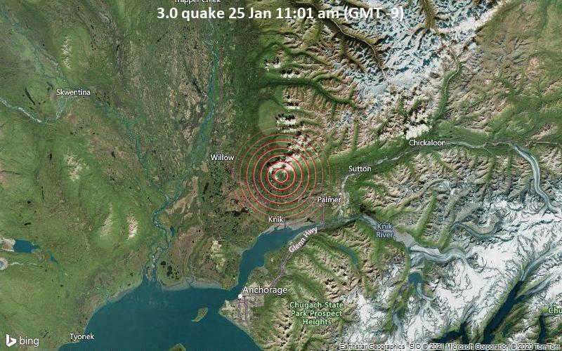 3.0 quake 25 Jan 11:01 am (GMT -9)