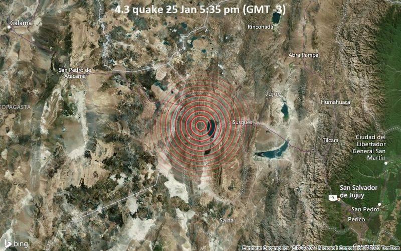4.3 quake 25 Jan 5:35 pm (GMT -3)