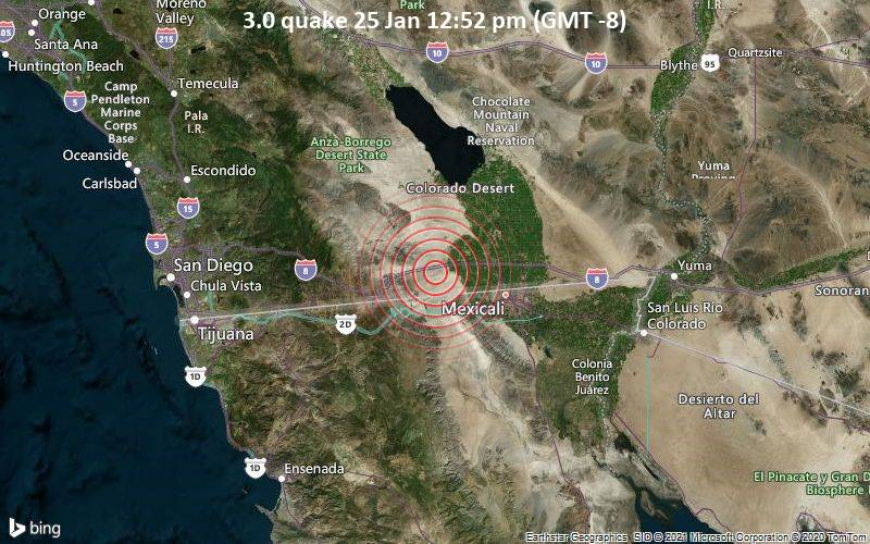 3.0 quake 25 Jan 12:52 pm (GMT -8)