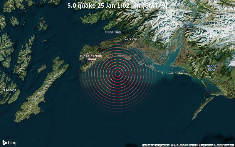 5.0 quake 25 Jan 1:02 pm (GMT -9)