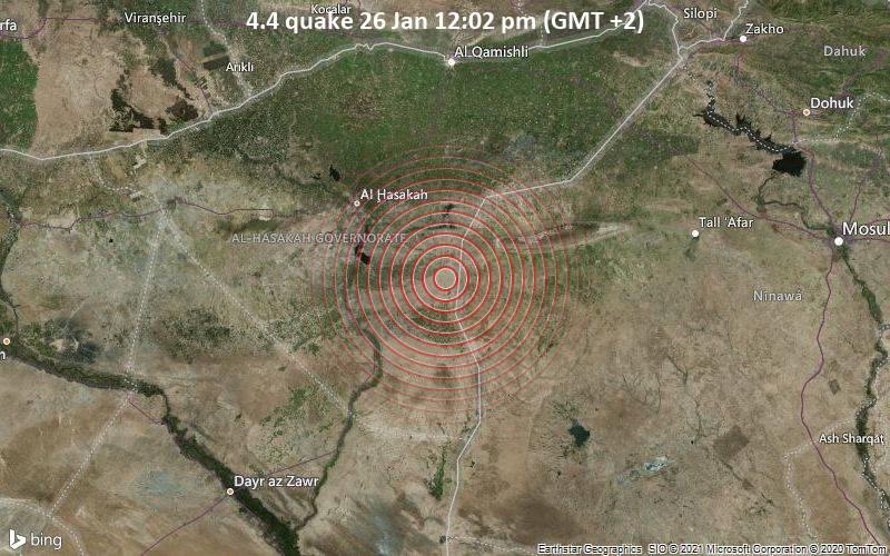 4.4 quake 26 Jan 12:02 pm (GMT +2)