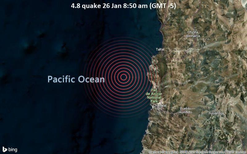 4.8 quake 26 Jan 8:50 am (GMT -5)