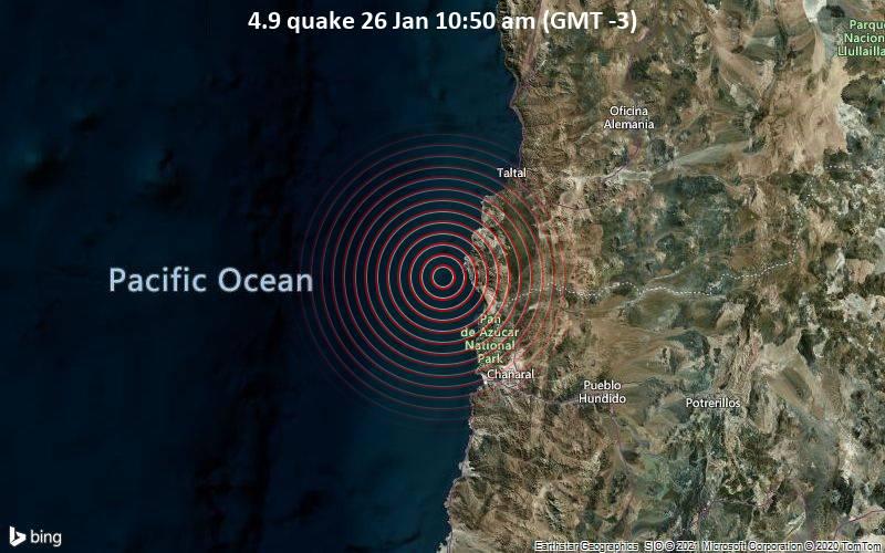 4.9 quake 26 Jan 10:50 am (GMT -3)