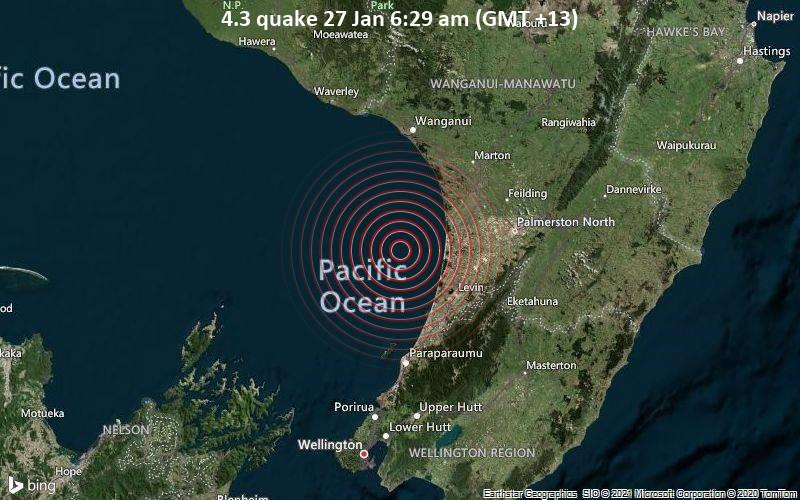 4.3 quake 27 Jan 6:29 am (GMT +13)
