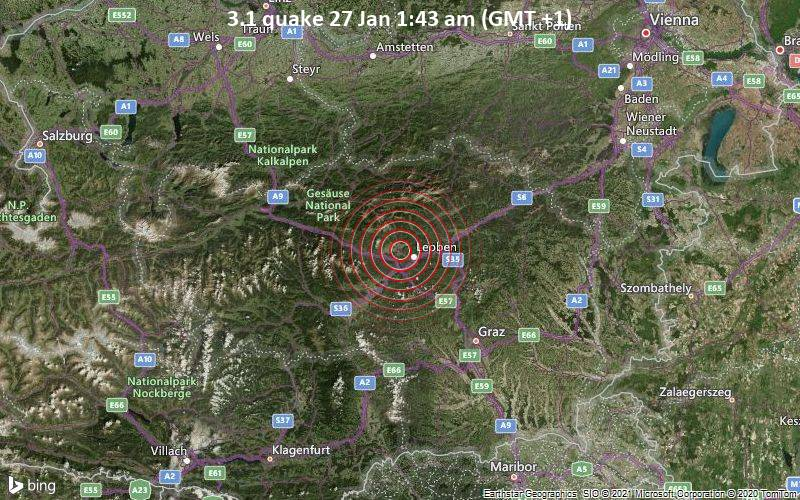 3.1 quake 27 Jan 1:43 am (GMT +1)