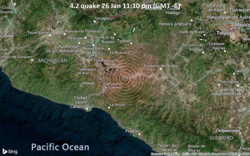4.2 quake 26 Jan 11:10 pm (GMT -6)