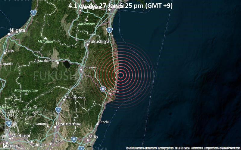 4.1 quake 27 Jan 6:25 pm (GMT +9)