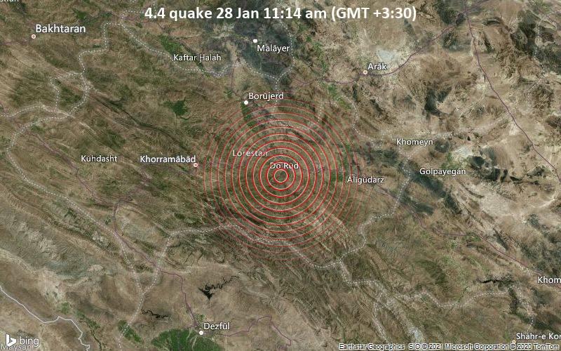4.4 quake 28 Jan 11:14 am (GMT +3:30)