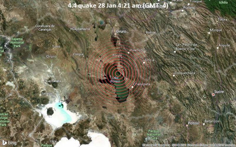4.4 quake 28 Jan 4:21 am (GMT -4)